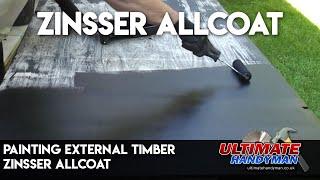 Painting external timber | Zinsser ALLCOAT