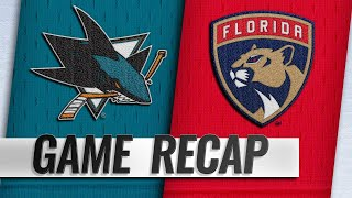 Vatrano has four points as Panthers beat Sharks, 6-2