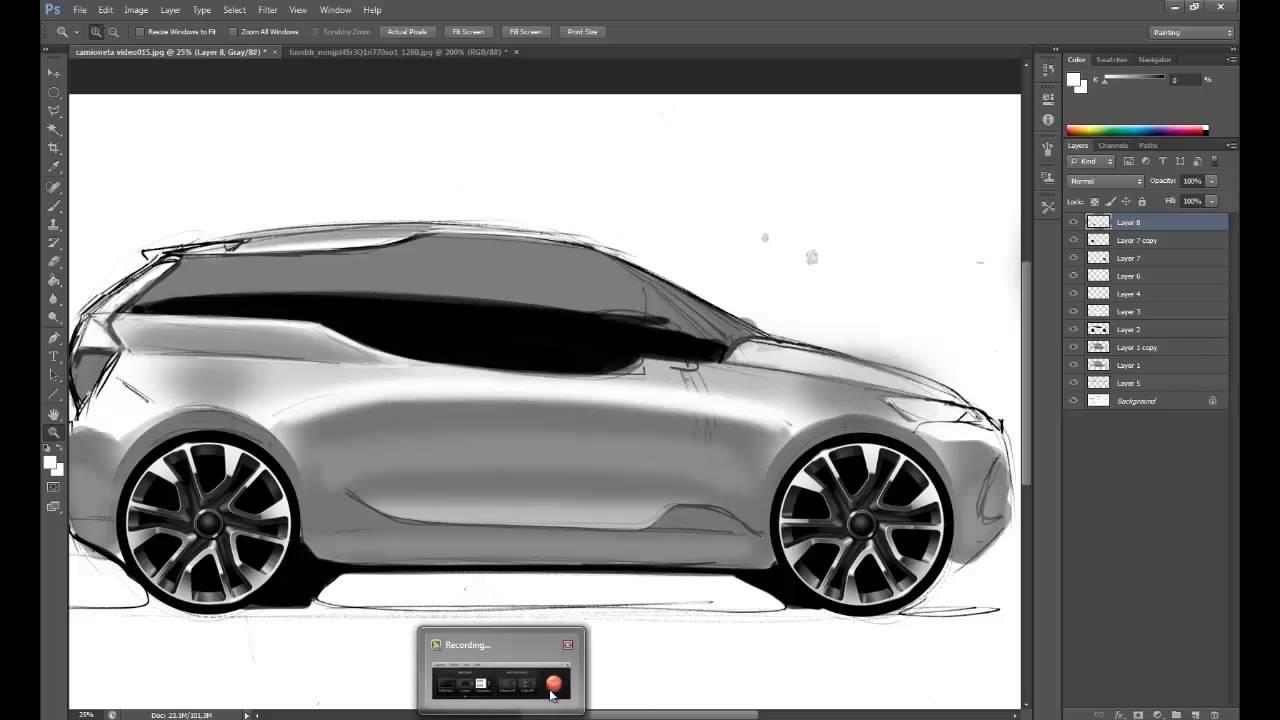 Como pintar un auto en photoshop dise o automotriz youtube - Como pintar un radiador ...