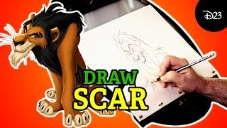 How to Draw Scar from The Lion King with Disney Legend Andreas Deja | Drawing with D23