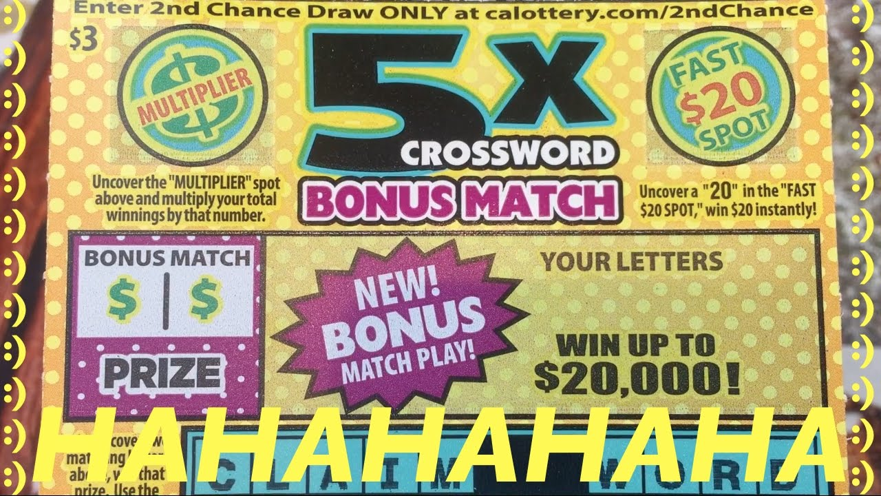 Hahaha i cant believe i did that 5x crossword bonus match 5x crossword bonus match california lottery scratchers youtube spiritdancerdesigns Images