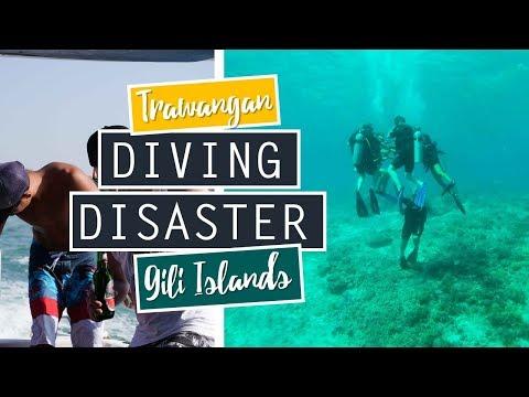 Gili Trawangan Diving Disaster // Gili Meno Underwater Sculptures // INDONESIA