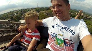 Развлечения в Испании Парк Аттракционов PortAventura / Водные горки Roller Coaster on-ride POV(Дима развлекается в Испании в Парке аттракционов PortAventura! Катаемся на самых экстримальных горках Dragon Khan..., 2016-10-14T07:03:04.000Z)