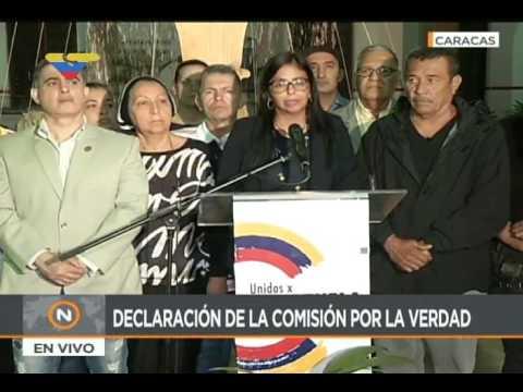 Delcy Rodríguez saluda decisión de víctimas de guarimbas de aceptar medida a Leopoldo López