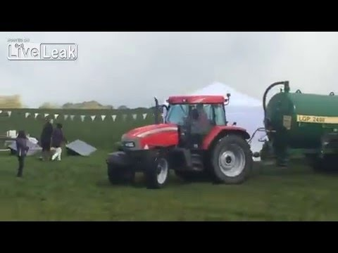 Farmer Sprays Manure on Protesting Trespassers