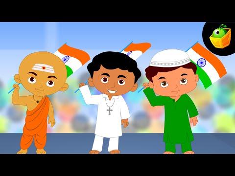 Koun Karega Desh ki Seva - Hindi Animated/Cartoon Nursery Rhymes For Kids