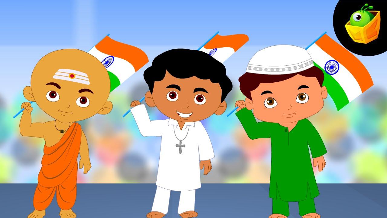 Koun Karega Desh Ki Seva Hindi Animated Cartoon Nursery Rhymes For Kids You