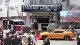 Grand Opening of Transformers: The Ride 3D with Optimus Prime, Megatron voices at Universal Orlando