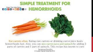 Hemorrhoids Home Treatment - Relief Recipes