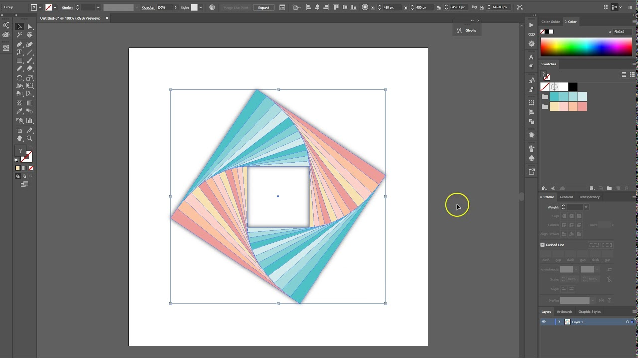 how to create background illustrator