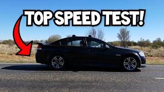 2007 Holden Commodore SV6 Max Speed Test! 0-235kph