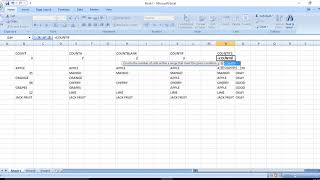 EXCEL TIPS IN TAMIL - HOW TO USE COUNT FORMULAS