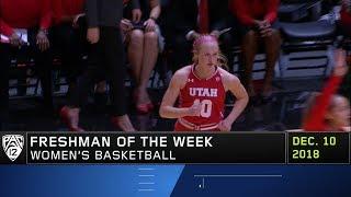 Utah's Dru Gylten is named Pac-12 Women's Basketball Freshman Player of the Week