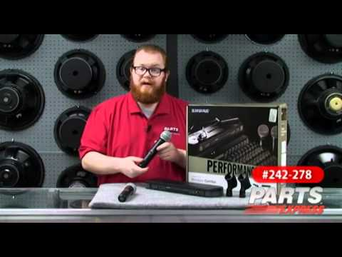 Shure PG288/PG58 Dual Handheld Wireless Mic System from YouTube · Duration:  3 minutes 11 seconds