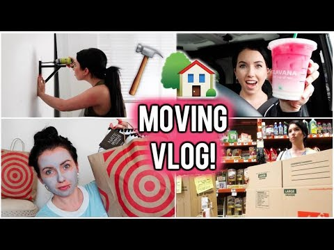 MOVING VLOG #1! Target Haul, Vintage Couch, Packing, Ombre Pink Drink, & Home Depot Trip!