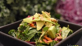 Lalaraw - Kale Cabbage Salad With Sweet Tahini Dressing