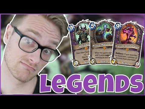 Hearthstone | The Deck is LEGENDARY! | Wild All Legend Reno Warlock | Saviors of Uldum