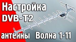 Налаштування правильної антени для прийому цифрового ефіру Т2 ''Хвиля 1-11''