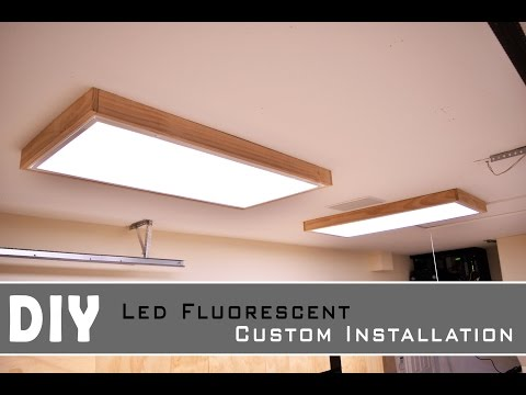 Installing Led Fluorescent light In the Garage - shop