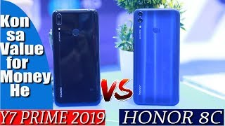 HONOR 8C VS Y7 PRIME 2019 | BUILD & CAMERA COMPARISON | Which one to buy ?🤔🤔🤔