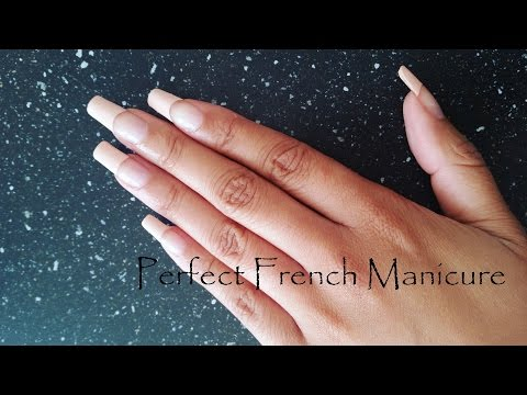 Perfect French Manicure At Home on Natural Nails