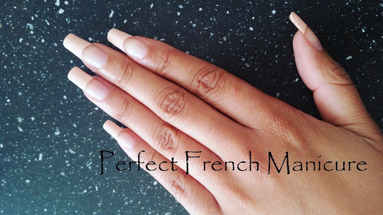 Perfect French Manicure At Home on Natural Nails | CillasMakeup88 ...