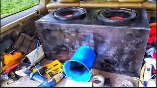 Cheap Walmart Duals Subwoofers Loud Bass Flex