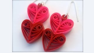 new model quilling papers earring | Heart shape Quilling earrings | Quilling earrings
