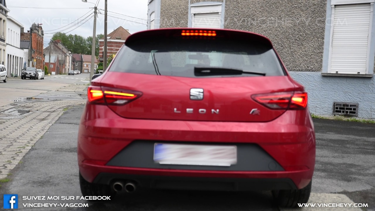 seat leon 5f facelift rear us with brake lights. Black Bedroom Furniture Sets. Home Design Ideas