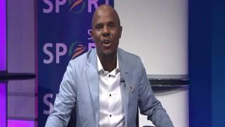 Thomas Mlambo interviews television host Tumelo Mothotoane