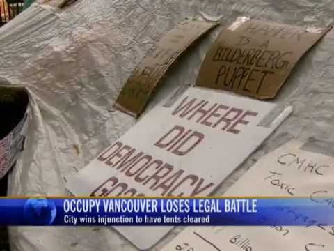 Occupy Vancouver: Protesters Lose Legal Battle 1/3