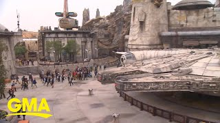 'Star Wars' fans head to Disneyland for Galaxy Edge's official opening   GMA