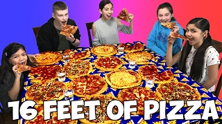 BIGGEST PIZZA EVER CHALLENGE | 16 square feet of pizza