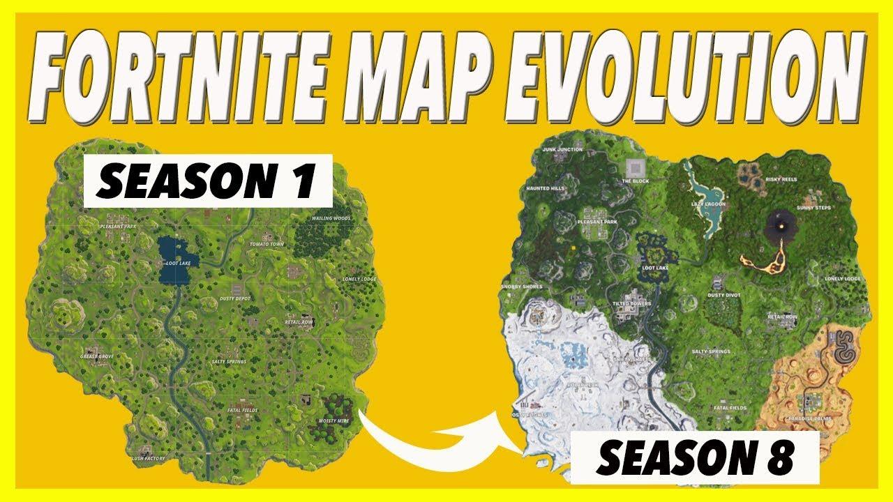 fortnite map evolution