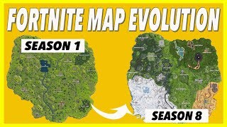 Fortnite Map Evolution! (Seasons 1-8)
