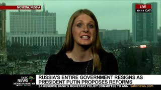 Russian government resigns as Putin proposes reforms
