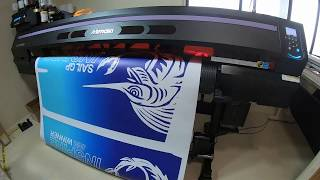 Printing sail decals by Innovative Marine Coatings