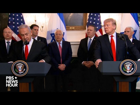 WATCH: U.S. marks Israel sovereignty over Golan Heights