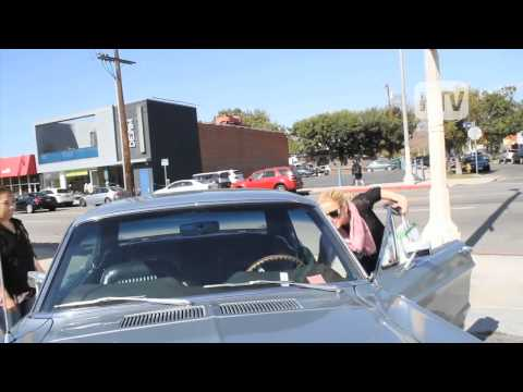 1968 Ford Mustang: Amber Heard Cruising Hollywood In Her Muscle Car.