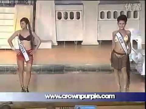 Nong Poy winning Miss International Queen 2004