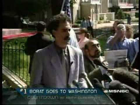 Borat in Washington DC