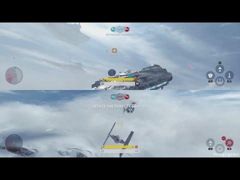 Star Wars Battlefront - Skirmish Gameplay ( Split Screen )