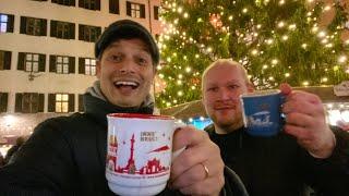 Europe Christmas Street Food & Glühwein Market Adventure   Innsbruck