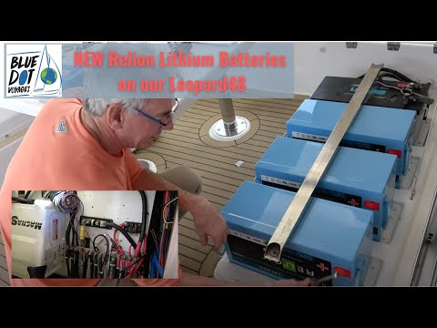 Upgrading to Lithium Batteries from AGM on our Leopard48 Catamaran PILAR | EP51