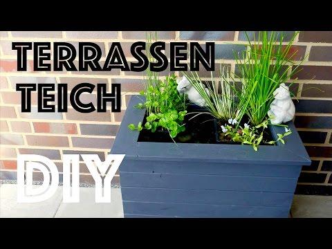 DIY Mini Terrassenteich selber bauen - Mit Springbrunnen - Anleitung