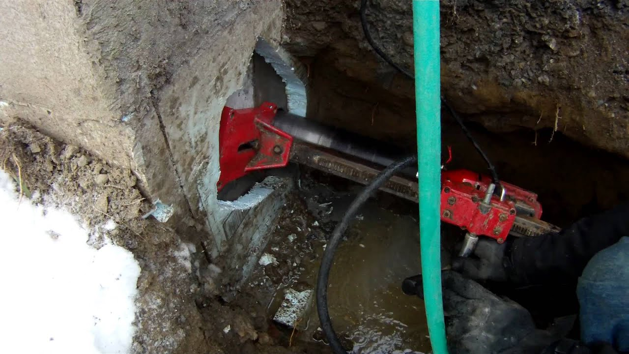 Concrete Drilling Coring Into Foundation Wall 75 My