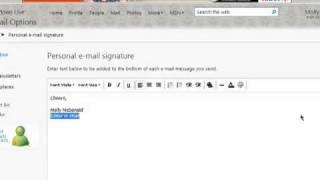 كيفية إنشاء بريد إلكتروني Hotmail التوقيعات