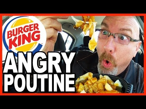 Burger King ★ Angry Poutine Review and Drive Thru test