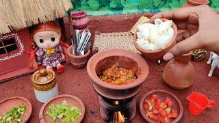 Miniature Macaroni Masala pasta   Indian style Macaroni pasta recipe   Barbie Tiny Food