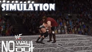 WWE 2K16 SIMULATION: Triple H vs Cactus Jack | No Way Out 2000 Highlights